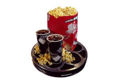 Oversized cinema food